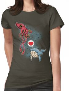 SUSHI... LOVE. Womens Fitted T-Shirt
