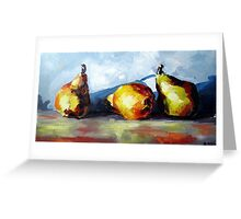 Pears still life Greeting Card