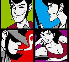 Lupin the third and his friends by gallo177