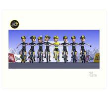 #PolyPeloton : Chris Froome Wins Art Print