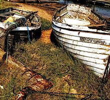 Old Boats, Walberswick, Suffolk by Simon Duckworth