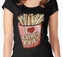 I love french fries Women's Fitted Scoop T-Shirt