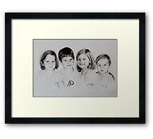 Children portrait Framed Print