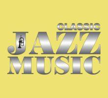 Classic Jazz Silver Kids Tee