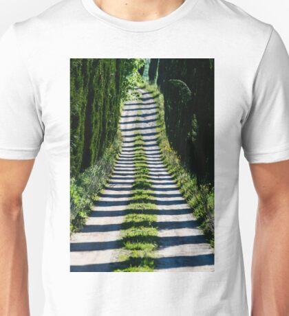 Cypress Avenue, Lago Montepulciano, Tuscany, Italy Unisex T-Shirt