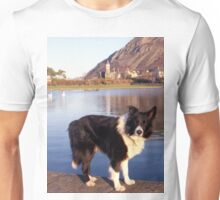 Indy at the boating pond Unisex T-Shirt