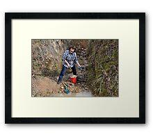 Hill End Gold Framed Print