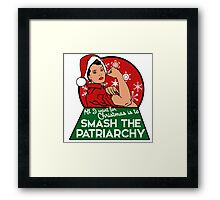 All I want for christmas is to smash the patriarchy  Framed Print