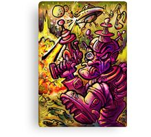 Attack of the SaucerMen Canvas Print