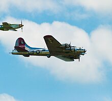 War Birds - B17 and P51 Mustang by Boots86