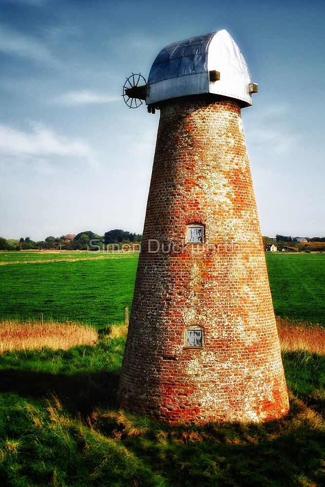 Water pump powered by wind, Suffolk by Simon Duckworth