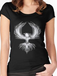 The Mythical Phoenix (b/w) Women's Fitted Scoop T-Shirt
