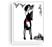 Show the other cheek Canvas Print