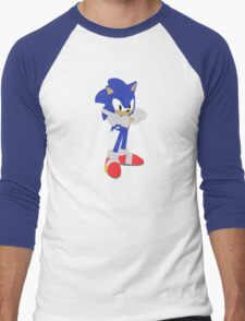 Sonic The Hedgehog (Vector Graphic) Men's Baseball ¾ T-Shirt