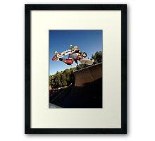 Backside Judo Air Framed Print