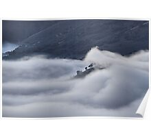 Fog in the Turon Valley - Merlon's Lookout, Hill End NSW Poster