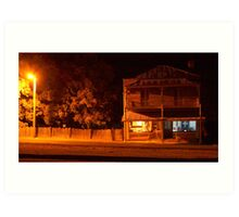The Grocer by Night- Hill End Art Print