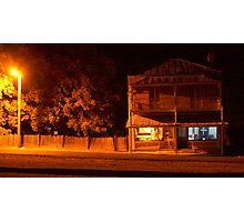 The Grocer by Night- Hill End Photographic Print