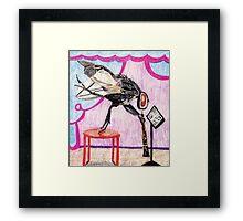 Housefly Francois Plays The Oboe Framed Print