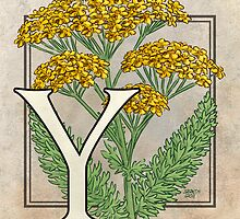 Y is for Yarrow card by Stephanie Smith