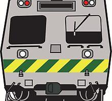 Hitatchi Train Melbourne by bohemianritz