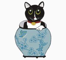 Le Vase Bleu (the blue vase) sticker by 2smartcats