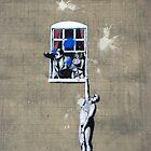 Defaced Banksy by Celia Strainge
