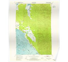 USGS Topo Map Washington Chinook 240496 1949 24000 Poster