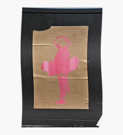 A girl in a pink tutu Poster