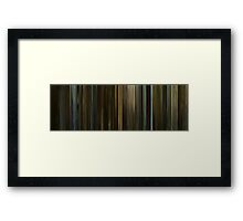 Moviebarcode: The Social Network (2010) Framed Print