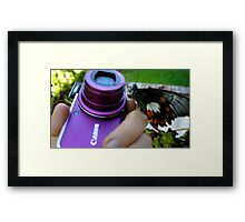 on the cannon &me! Framed Print