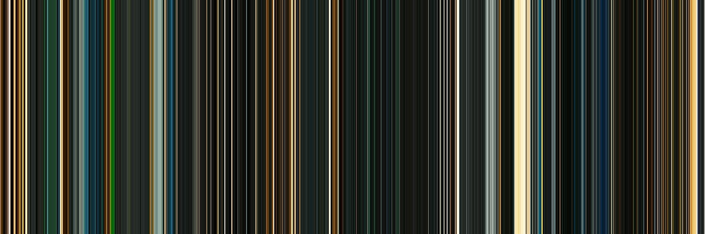 Moviebarcode: Sunshine (2007) [Simplified Colors] by moviebarcode