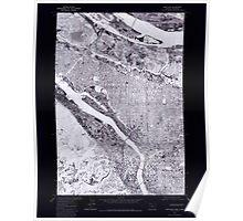 USGS Topo Map Oregon Portland 281134 1975 24000 Inverted Poster