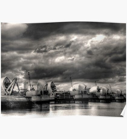 Thames Barrier - Greenwich Poster