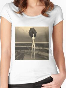 Girl in the rain Women's Fitted Scoop T-Shirt
