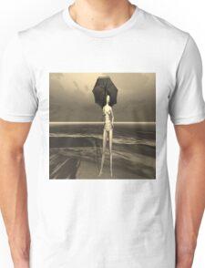 Girl in the rain Unisex T-Shirt