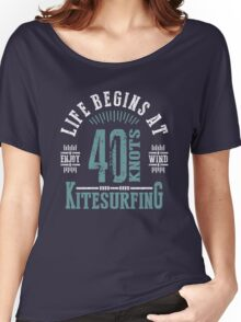 Kitesurfing 40 Knots Extreme Sport Women's Relaxed Fit T-Shirt