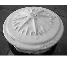 compass in black& white Photographic Print