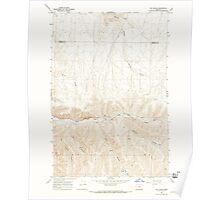 USGS Topo Map Oregon Vey Ranch 281965 1968 24000 Poster