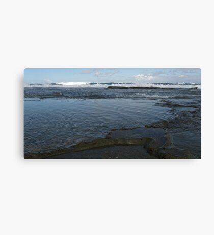 Bar Beach Rocks Canvas Print