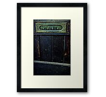 """Entry"" Framed Print"