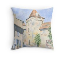 Le Vieux Château, Varaignes, France Throw Pillow