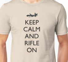 Keep Calm and Rifle On (MQ-9) Unisex T-Shirt
