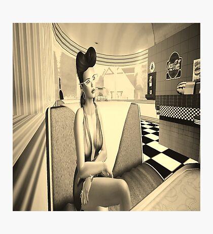Retro diner girl Photographic Print