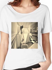 Retro diner girl Women's Relaxed Fit T-Shirt