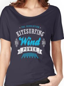 Kitesurfing Wind Power Extreme Sport Women's Relaxed Fit T-Shirt