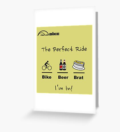 Cycling T Shirt - The Perfect Ride Greeting Card