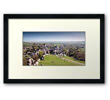 Corfe Village and Church Framed Print