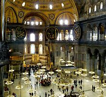 Interior of Hagia Sophia, Istanbul by bubblehex08