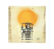 Sunset Boat Silhouette Scarf